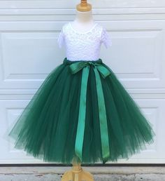 This item is unavailable Green Tulle Skirt, Girls Tulle Skirt, Pink Tutu Skirt, Green Tutu, Pink Tulle, Tulle Skirts, Lace Leotard, Lace Romper, C 18