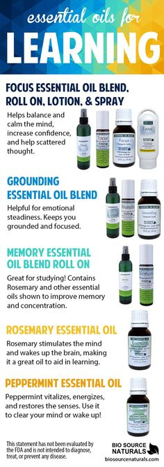Essential oils such can help support the betterment of learning such as clearing the mind, improve memory and enhance concentration, increase confidence and help reduce scattered thought, as well as support focus. #aromatherapy