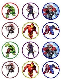 Free Printable Avengers Cupcake Toppers cakepins.com