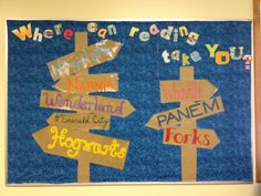 Where will reading take you? Library Bulletin Board Idea