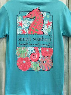 "Simply Southern ""Sail Away"" Tee - Aqua"