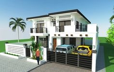House Plan Purchase - Sets of Plan Blueprint Signed & Sealed) - Only Construction Contract: P M - Low-End/Budget P M - Mid-Range/Standard. Philippines House Design, Low Budget House, Two Story House Design, Philippine Houses, Duplex Plans, Construction Contract, Maids Room, Ground Floor Plan, Two Story Homes