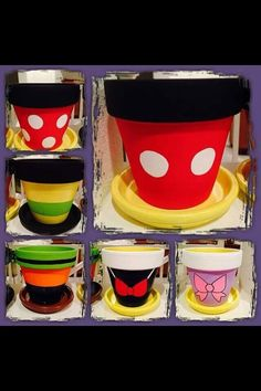 Disney flower pots