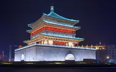 Xian at night III by Edgar Bahilo Rodríguez on Provinces Of China, Suzhou, Front Entrances, Poses For Pictures, Beijing, Tower, The Incredibles, Night, City