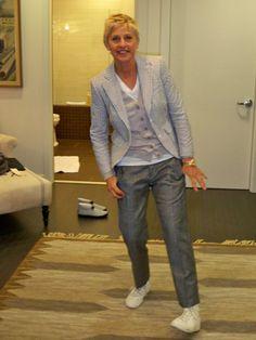 Neo Horseman Blog: Ellen Degeneres wearing seersucker