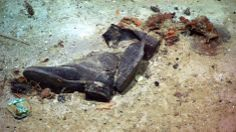 Boots from the wreckage