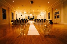 Ceremony in Concert Hall Indoor Wedding Receptions, Wedding Reception Venues, The Stanley Hotel, Love Me Forever, Concert Hall, Halloween, Wedding Venues, Halloween Stuff