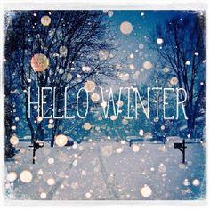 Hello Winter. Carina,da stampare ed incollare su un pannellino tagliato a misura di legno da appendere al muro.