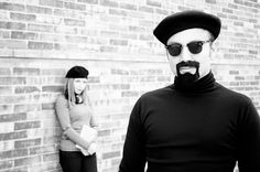 Plain sweaters with no design were also a classic beatnik look. Beatnik men generally favored all black clothing, including shoes. Big, dark sunglasses were also popular.