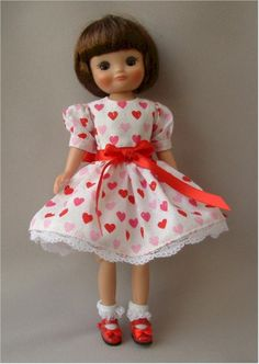 Tiny Betsy McCall doll..... Made by Tonner...Dress by Jo's doll Shop