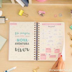 Agenda 2017 Vista diaria - Coisas por fazer e 365 histórias emocionantes à tua espera (PT) - Mr. Wonderful
