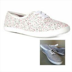 Sapatos com estampas florais, cinza e outras cores na Primark por 5€ ☆★♡♡★☆ Contato: enviaeuropa@gmail.com  #enviaeuropaNaSuaCasa #europaBrasil #enviaTudo #enviaShoes
