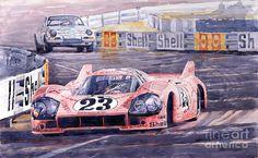 Porsche 917-20 Pink Pig Le Mans 1971 Joest Reinhold Painting - Porsche 917-20…