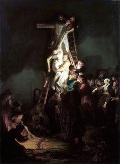Рембрандт ван Рейн. Снятие с креста. 1634.                                       .