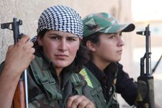 PHOTO: (Mainly) Kurdish YPG's female YPJ-division's fighters from Syria 9. #Syria #SyrianCivilWar #YPG