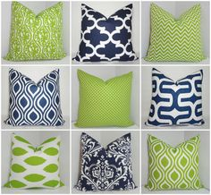 Premier Prints Navy and Lime Chartreuse Geometric by HomeLiving