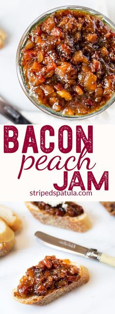 Bacon Peach Jam | #Bacon Jam Recipe | Peach Recipes | Appetizers Easy | #gamedayfood