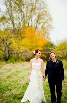 Beautiful photo from fall #wedding. #twobridesarebetterthanone #equality