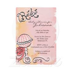 French Themed Baby Shower Invitations