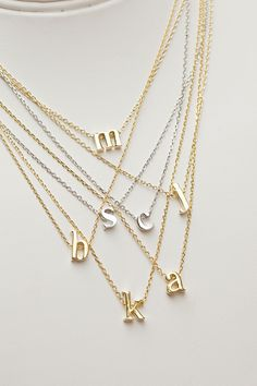 alphabet necklaces // letters necklace // initial necklaces