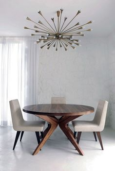 Dining Area - Importance took shape in the dining table & selecting a dazzling multi light chandelier.....desperately in need of a 'tongue in cheek' framed art piece with attitude on the far wall....then a major WOW!