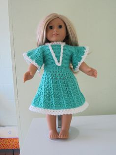 Free Knitting Patterns For Our Generation Dolls : American Girl Mini Crochet Pattern - Sun dress crochet ...