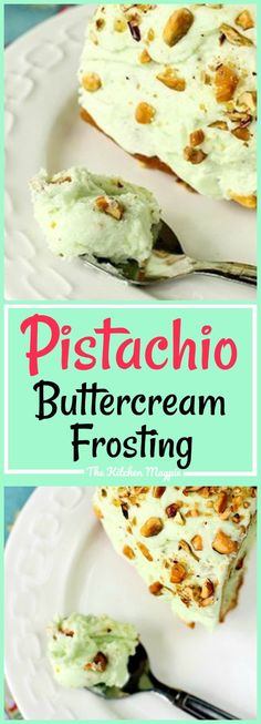 Pistachio Pudding Buttercream frosting, a gorgeous, melt in your mouth buttercream icing that's flavored with pistachio pudding. Pistachio Frosting Recipe, Pistachio Pudding Cake, Pistachio Cupcakes, Pistachio Dessert, Pistachio Butter, Pistachio Recipes, Buttercream Recipe, Frosting Recipes, Banana Pudding