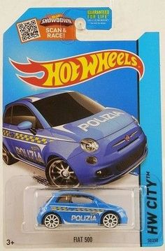 Up for sale is a Hot Wheels 2013 HW City Fiat 500 Polizia Car by Mattel. This 2013 Hot Wheels Fiat 500 Polizia Car comes new in original packaging. - The 2013 Hot Wheels HW City Fiat 500 Polizia Car b Swat Costume Kids, New Fiat, Hobby Toys, Ebay Shopping, Matchbox Cars, Hot Wheels Cars, Fiat 500, Police Cars, Fire Trucks