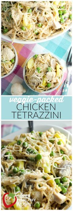 Food- Veggie-Packed Chicken Tetrazzini | Easy Weeknight Meal | Super Healthy Kids