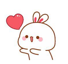 Cute Bunny Cartoon, Cute Kawaii Animals, Cute Cartoon Pictures, Cute Love Cartoons, Cute Love Pictures, Cute Love Gif, Cute Cat Gif, Cute Images, Cute Bear Drawings