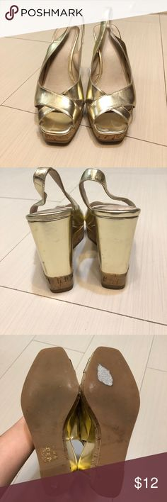 Aldo wedge sandals Used Aldo wedge sandals in good condition. Heels are 4-1/2 inches.no box. Aldo Shoes Sandals