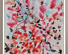 Abstract Painting Original Flowers Painting Floral Art