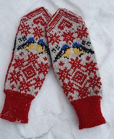Ravelry: Vinterfugler votter pattern by StrikkeBea Alpacas, Knit Mittens, Ravelry, Knitting Patterns, Gloves, Design, Knit Patterns, Knitting Stitch Patterns