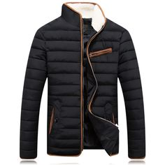 44.47$  Watch here - http://alispy.shopchina.info/go.php?t=32713270822 - Winter Jacket Men 2016 Casual Solid Black Fashion Thick Cotton Plus Size M-XXXL Winter Coat Men Drop Shipping Y0812-97F  #buyininternet