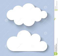 Insegne Di Carta Delle Nuvole Bianche Illustrazione Vettoriale ...
