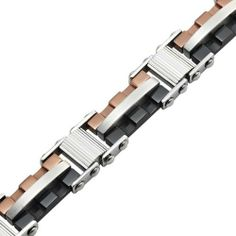 R&B Schmuck Herren Armreif Armband Kette Edelstahl - Handwerker Style (Silber, Bronze, Schwarz): 26,90€