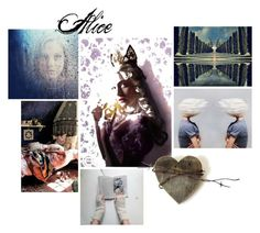 """""""Alice"""" by vegetarian-wolf ❤ liked on Polyvore featuring art, contestentry and DisneyAlice"""