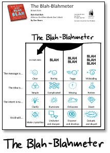 The Blah-Blahmeter - Visual Thinking for Education and Teaching (from Dan Roam)