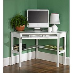 Space-saving corner design ensures desk will be useful without taking up a lot of spaceStylish desk adds a touch of simple elegance and fine craftsmanship to your home office decorCorner desk crafted of solid birch