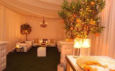 would be gorgeous to set this up at an outdoor wedding as a place for the bride and groom to escape to. Wedding Lounge, Dream Wedding, Wedding Things, Parker Palm Springs, Pipe And Drape, Lounge Furniture, Reception Rooms, Lounge Areas, Celebrity Weddings