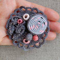 Grey coral brooch | Flickr - Photo Sharing!