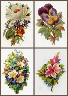 4 servilletas napkins Flower variety 33 x 33 cm ramo de flores silvestres trazos pastel ramo