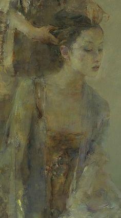 "胡峻涤 (Hu Jundi), ""Dressing"", detail"