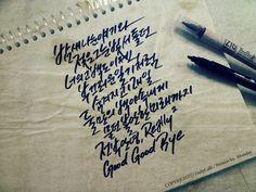 캘리그라피, 소녀시대, Good bye