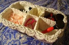 Fancy Spa Basket | AllFreeCrochet.com - I like the idea of filling it with things for gift-giving!