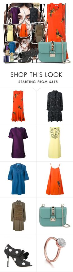 """""""In Love with Shift Dress!!"""" by stylediva20 on Polyvore featuring Cacharel, Equipment, Carven, Boutique Moschino, M.i.h Jeans, Gianfranco Ferré, Valentino, Dolce&Gabbana, Monica Vinader and Estée Lauder"""