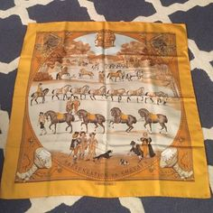 Hermes scarf Silk Hermes Presentation de Chevaux scarf. Very good condition. Original Hermes box included. 35 inches/ 90 centimeters Hermes Accessories Scarves & Wraps