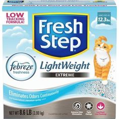 Fresh Step Lightweight Extreme with Febreze Freshness, Clumping Cat Litter, Scented, 8.6 Pounds