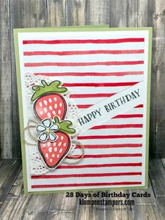 Klompen Stampers (Stampin' Up! Demonstrator Jackie Bolhuis): 28 Days of Birthday Cards - Day #20