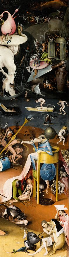 Hieronymus Bosch, Garden of Earthly Delights right panel detail on ArtStack #hieronymus-bosch #art